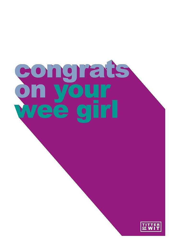 congrats on your wee girl - blue & purple by FayeFaye