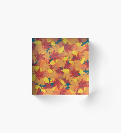 Bright Fall #redbubble #fall Acrylic Block