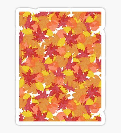 Bright Fall #redbubble #fall Glossy Sticker