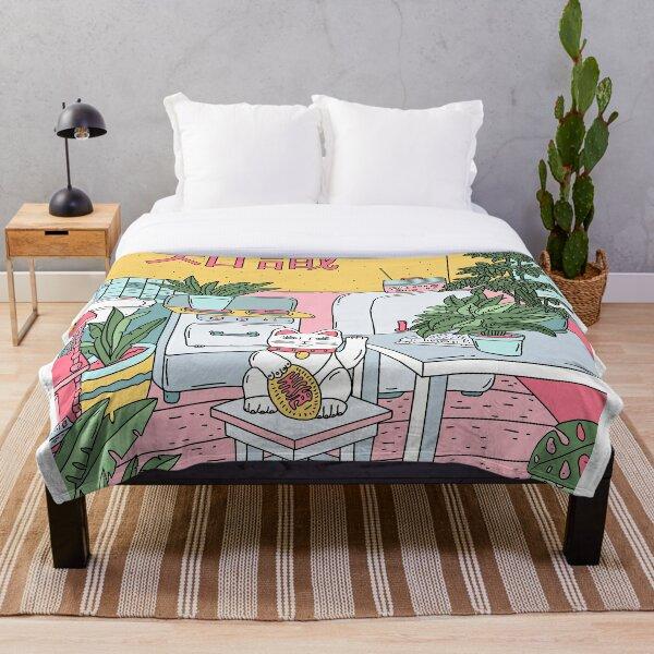 Maneki Plants Throw Blanket