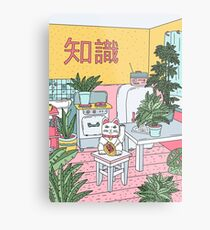 Maneki Plants Metal Print