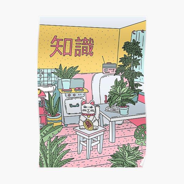 Maneki Plants Poster