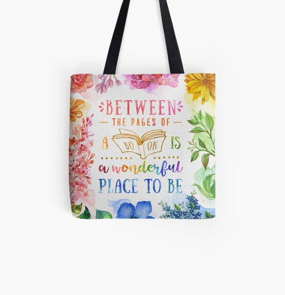 Between the pages All Over Print Tote Bag