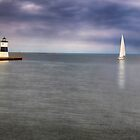 Sailing Into the Channel  by Kathy Weaver