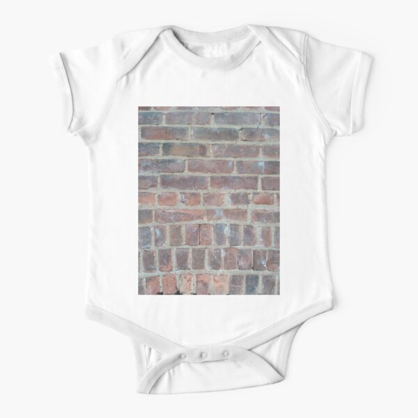 #cement #brick #dirty #old #rough #concrete #solid #pattern #wallpaper #clay #colorimage #wallbuildingfeature #cubeshape #stonematerial #textured #constructionindustry #brickwall #square Short Sleeve Baby One-Piece