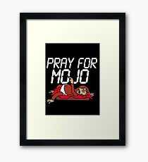 Pray for the helper monkey Framed Print