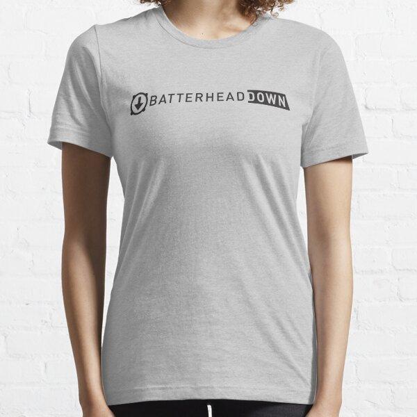 Batterhead Down Logo Lockup Essential T-Shirt