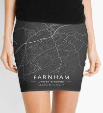 Farnham, United Kingdom Dark Map Mini Skirt