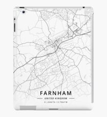 Farnham, United Kingdom Light Map iPad Case/Skin