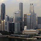 Singapore Skyline Panorama.  by Tridib Ghosh