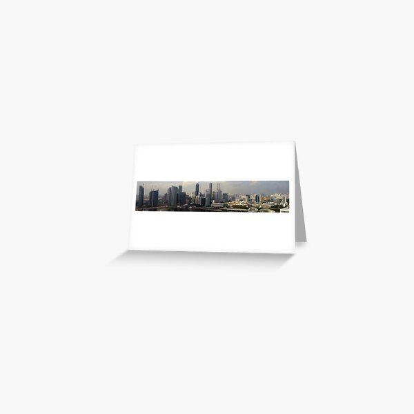 Singapore Skyline Panorama.  Greeting Card