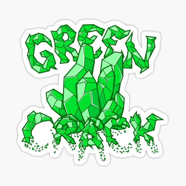 Green Crack Sticker