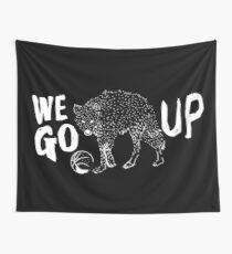 WE GO UP - COYOTE BLACK Wall Tapestry
