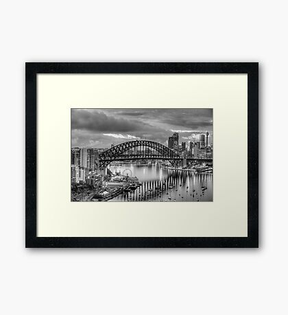 Monochrome - The City a Study In Black and White - The HDR Experience Framed Print