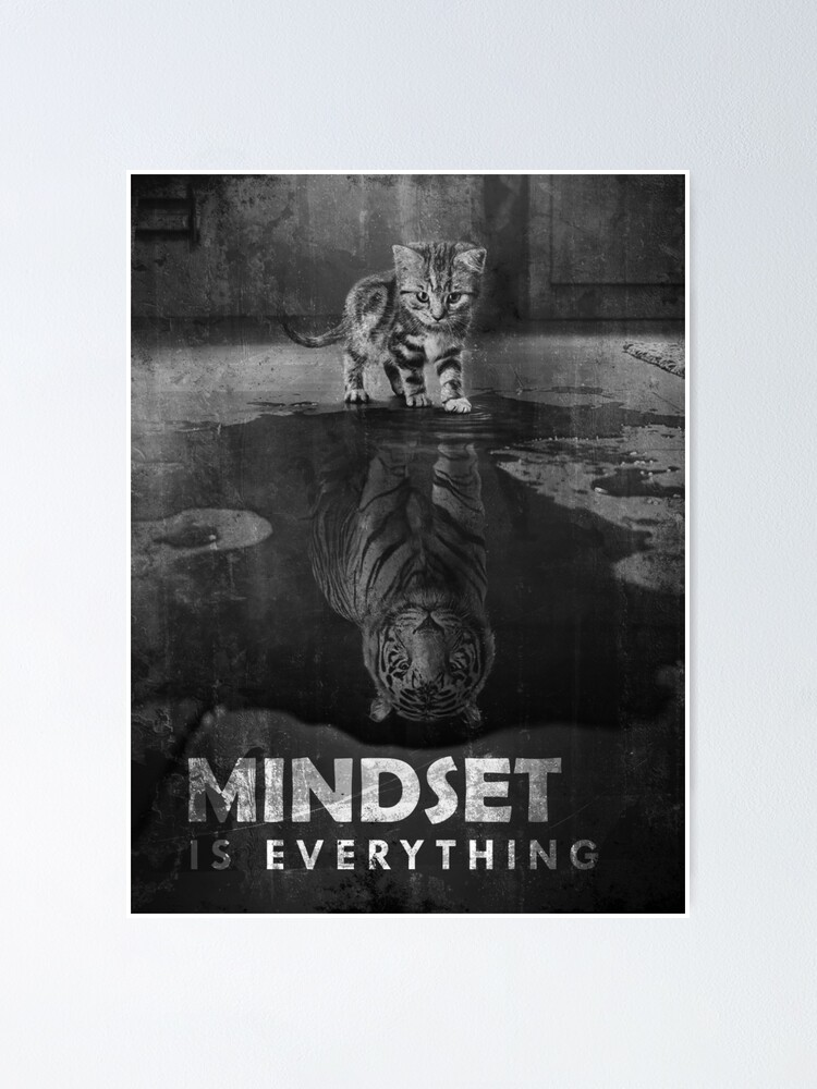 Alternate view of Mindset Is Everything Tiger Cat Poster