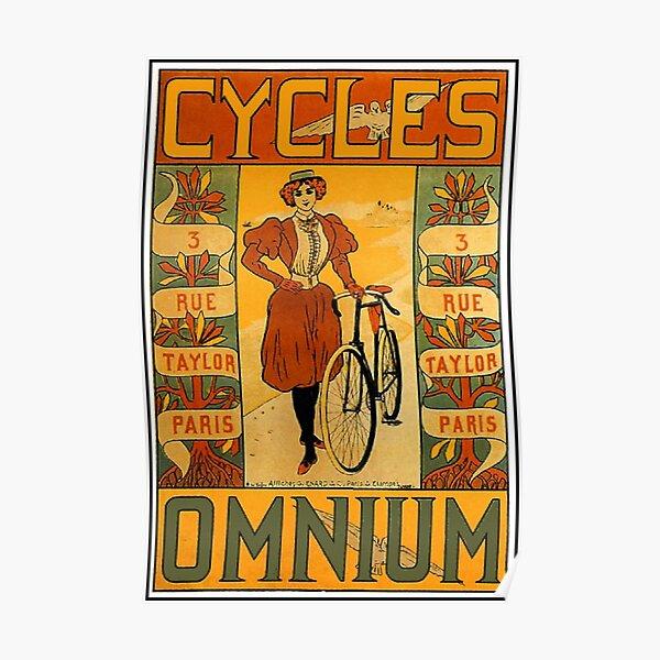 OMNIUM CYCLES : Vintage 1895 Bicycle Advertising Print Poster