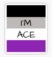 ASEXUAL FLAG I'M ACE ASEXUAL T-SHIRT Sticker