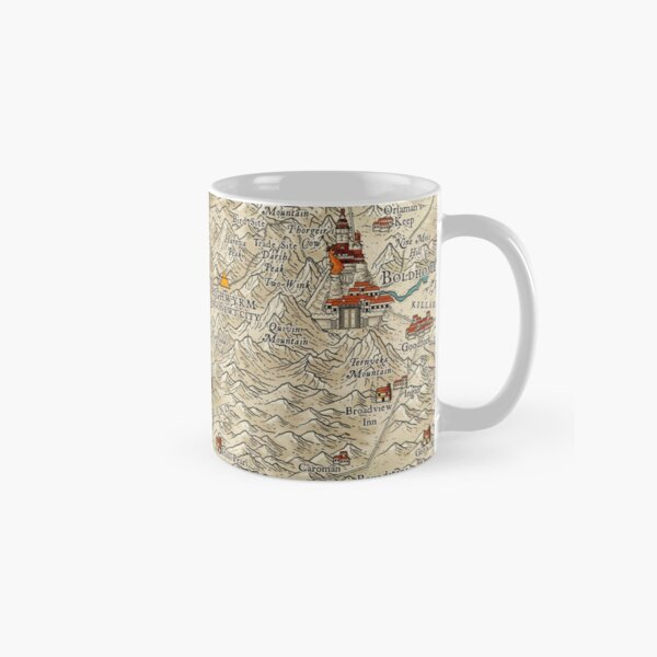 Lands of the Colymar Tribe and Surrounding Regions by Josephe Vandel Classic Mug