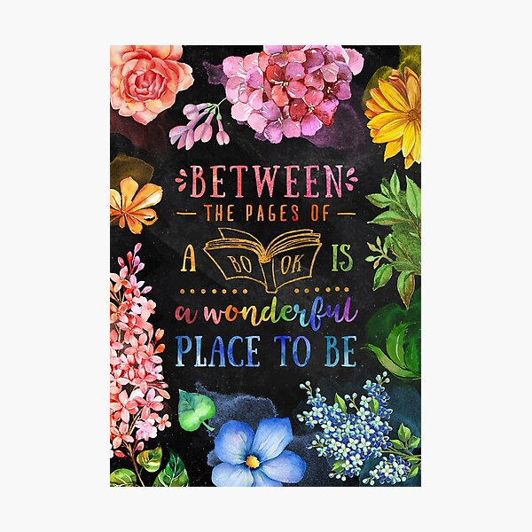 Between the pages (black) Photographic Print