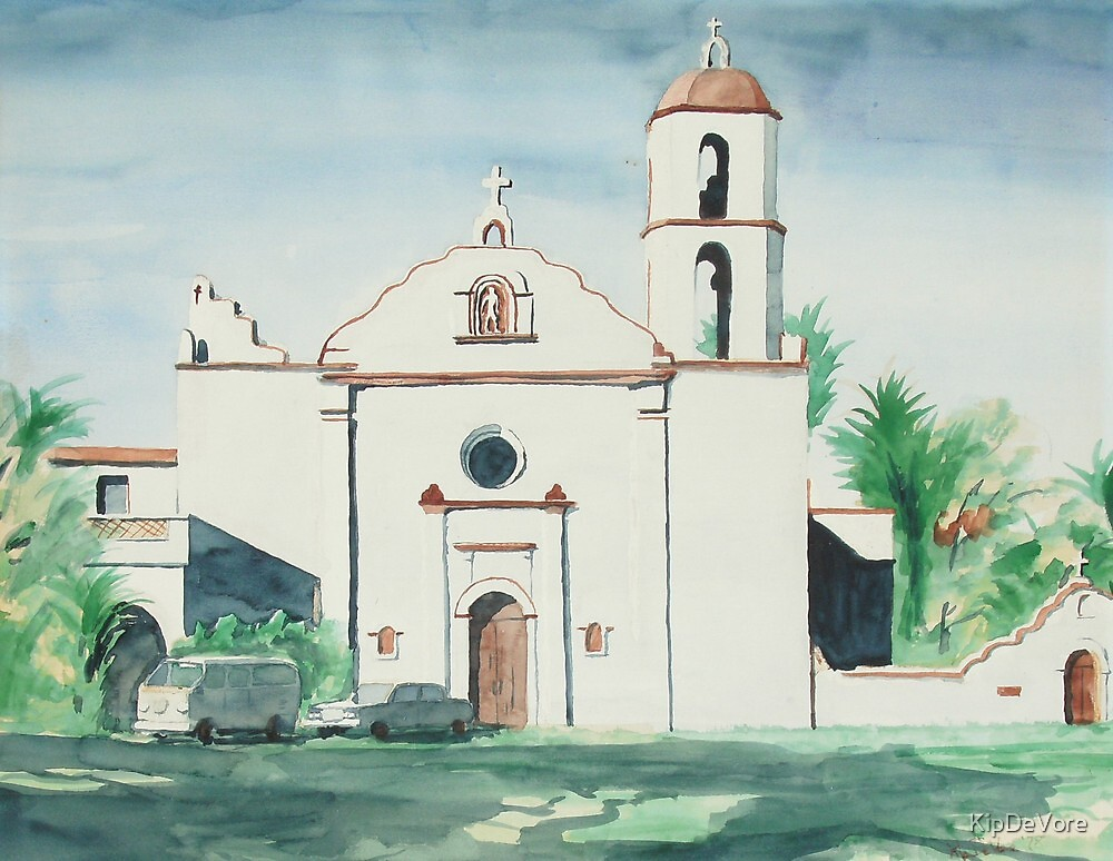 Mission San Luis Rey by KipDeVore