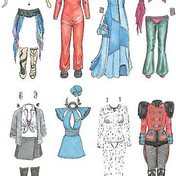 BRITNEY iconic costumes by flatlaydesign