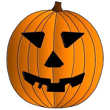 Halloween Pumpkin Illustration by MarkUK97