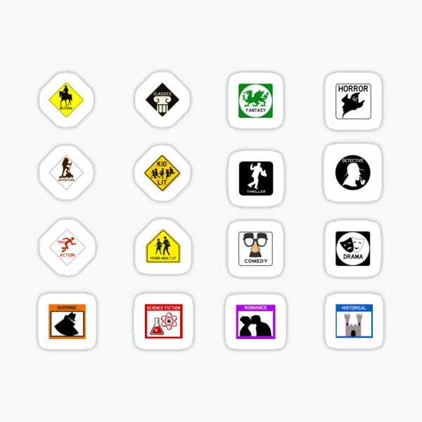 Genre Road Sign Stickers Sticker