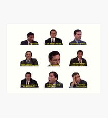 Michael Scott Quotes from The Office Art Print