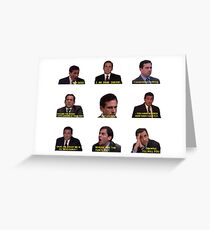 Michael Scott Quotes from The Office Greeting Card