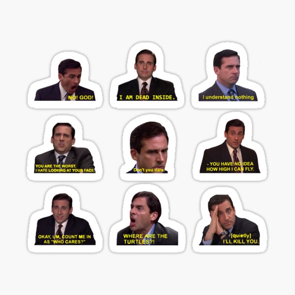 Michael Scott Citations du bureau Sticker