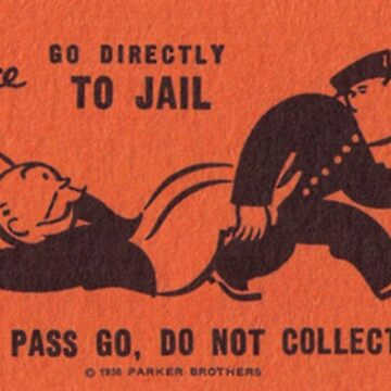 Monopoly Go to Jail Card by Crampsy