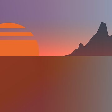 Material Island Sunset by EliaCoan
