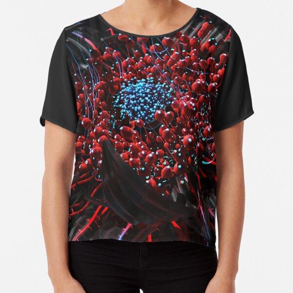 Cyber Blossom Chiffon Top