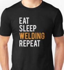 Eat Sleep Welding Repeat Funny Welder T-shirt Unisex T-Shirt