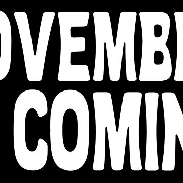 November is Coming Shirt / Sticker / Voting / Feminist by IntrepiShirts