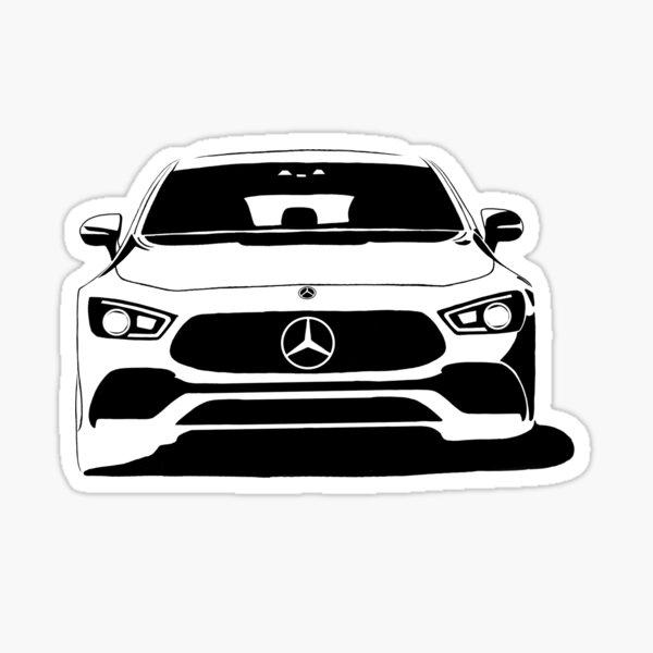El arte de Mercedes Benz Pegatina