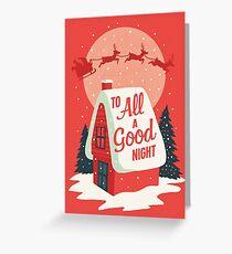 Tarjeta de felicitación A todos una buena noche
