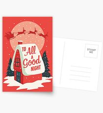 To All A Good Night Postcards