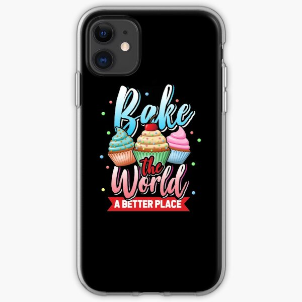 Baking cupcakes iPhone Soft Case