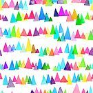 Watercolour Rainbow Triangles by Emery Smith