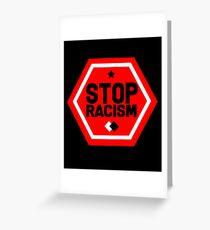 Tarjeta de felicitación Detener el racismo
