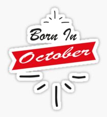 Born in October Collection Sticker