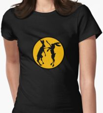 BOXING HARES Womens Fitted T-Shirt
