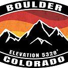 Boulder Colorado Mountains Flatirons Chautauqua Park Eldorado Canyon Flagstaff Mountain by MyHandmadeSigns