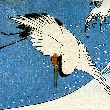 Favourite Artist - Crane & Wave - Hiroshige by vmajzlik