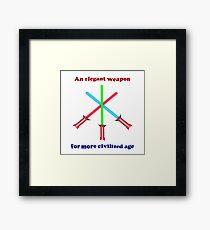 Lightsaber Elegant Framed Print