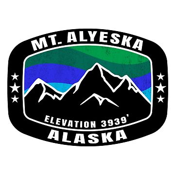 Mount Alyeska Alaska Skiing Ski Mountain Snowboarding by MyHandmadeSigns