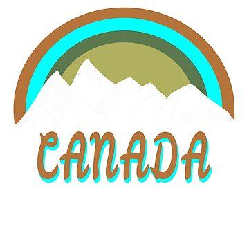 Retro Canada mountains graphic design by jhussar