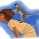 Tutankhamun's Pet Monkey by Leenasart