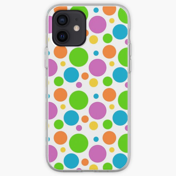 Colorful Cheerful Polka Dots iPhone Soft Case